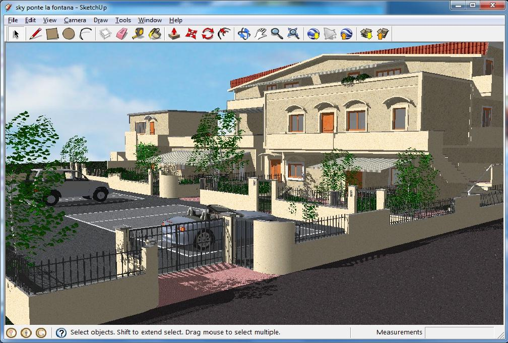 2D dan 3D desain rumah, baik secara interior maupun secara eksterior